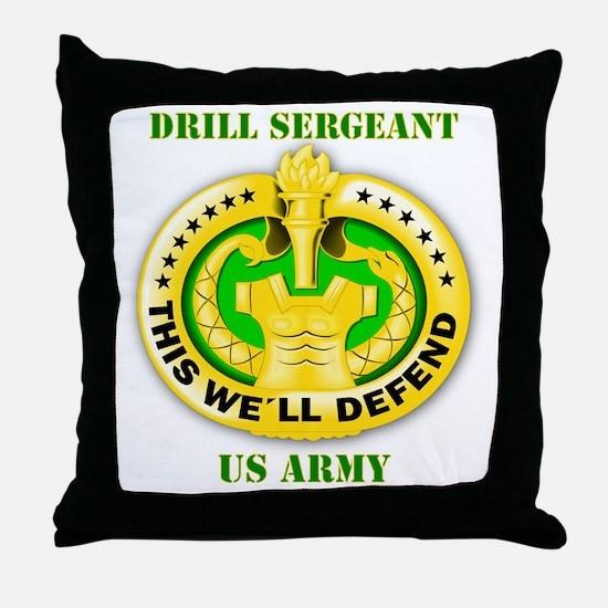 Army - Emblem - Drill Sergeant Throw Pillow