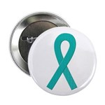 Teal Ribbon Button