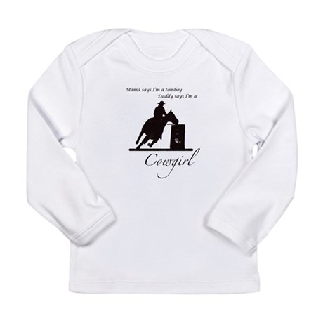 Daddy's Cowgirl Long Sleeve Infant T-Shirt