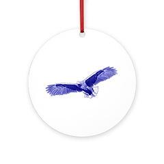Indigo Eagle Ornament (Round)