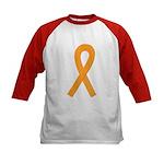 Orange Ribbon Kids Baseball Jersey