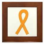 Orange Ribbon Framed Tile