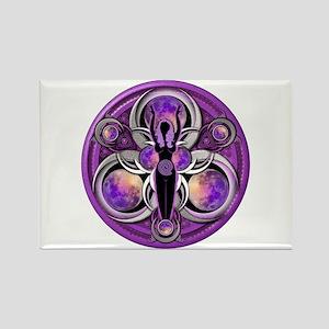 Goddess of the Purple Moon Rectangle Magnet