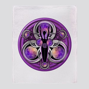 Goddess of the Purple Moon Throw Blanket