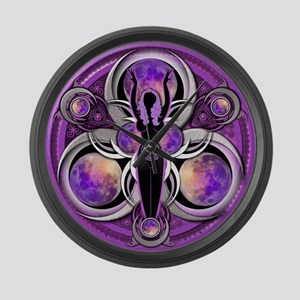 Goddess of the Purple Moon Large Wall Clock