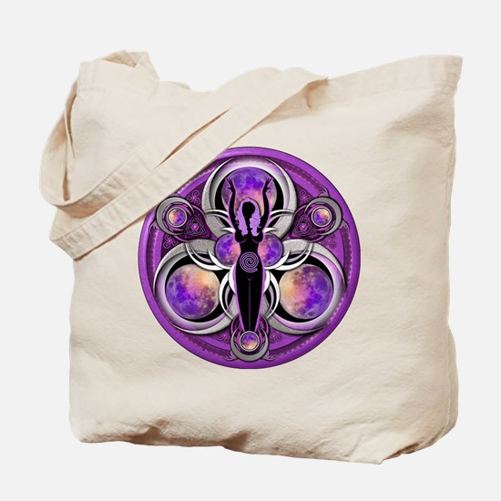 Goddess of the Purple Moon Tote Bag