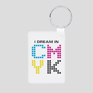 Dream In CMYK Aluminum Photo Keychain