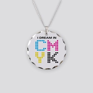 Dream In CMYK Necklace Circle Charm