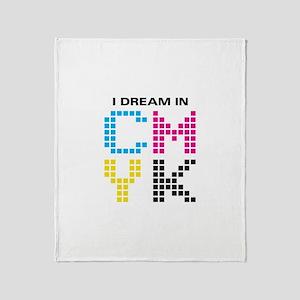 Dream In CMYK Throw Blanket