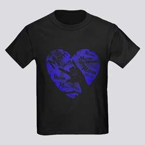 LOVE MY MOM - ASL Kids Dark T-Shirt