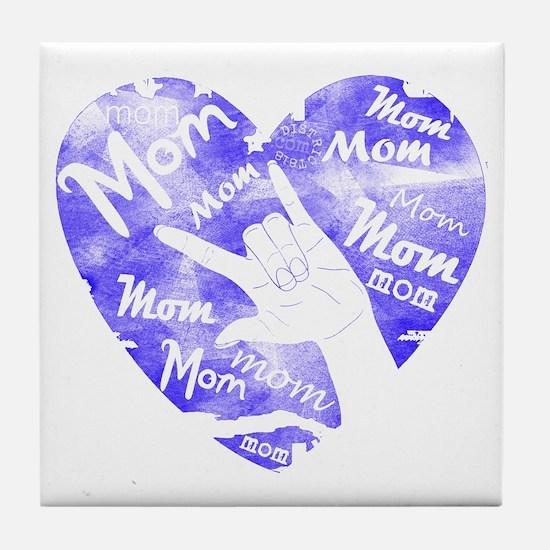LOVE MY MOM - ASL Tile Coaster