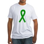 Green Ribbon Fitted T-Shirt