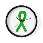 Green Ribbon Wall Clock