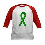 Green Ribbon Kids Baseball Jersey