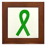 Green Ribbon Framed Tile