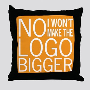 No Big Logos Throw Pillow