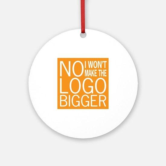 No Big Logos Ornament (Round)