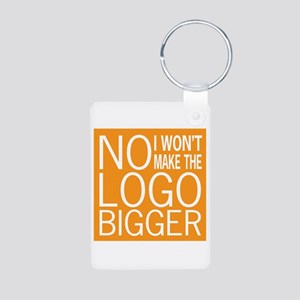 No Big Logos Aluminum Photo Keychain
