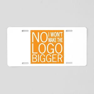 No Big Logos Aluminum License Plate