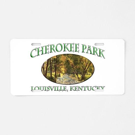 Cherokee Park Aluminum License Plate