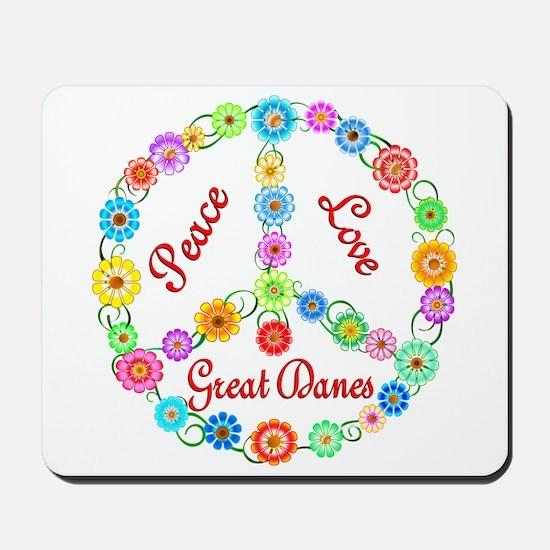 Peace Love Great Danes Mousepad