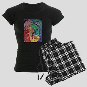 Music! Saxophone art! Women's Dark Pajamas
