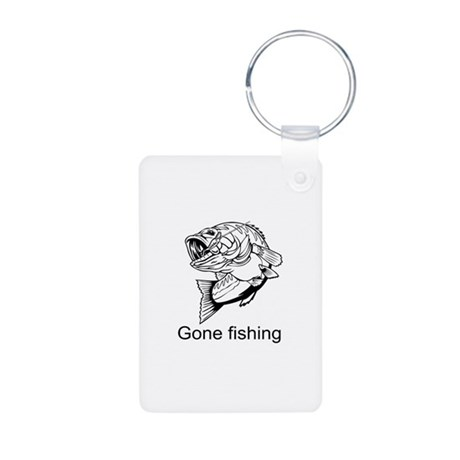 Gone fishing Aluminum Photo Keychain