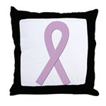 Lavender Ribbon Throw Pillow