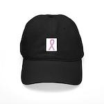 Lavender Ribbon Black Cap