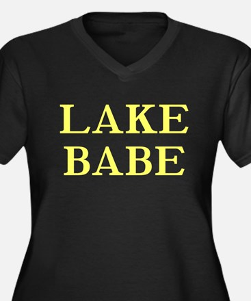Lake Babe for Girls Who Love Women's Plus Size V-N