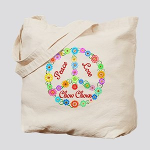 Peace Love Chow Chows Tote Bag