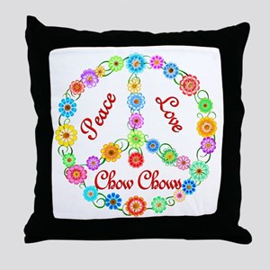 Peace Love Chow Chows Throw Pillow