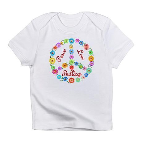 Peace Love Bulldogs Infant T-Shirt