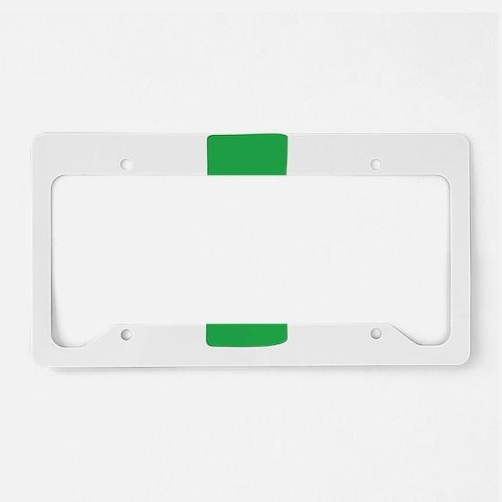 Green Cross License Plate Holder
