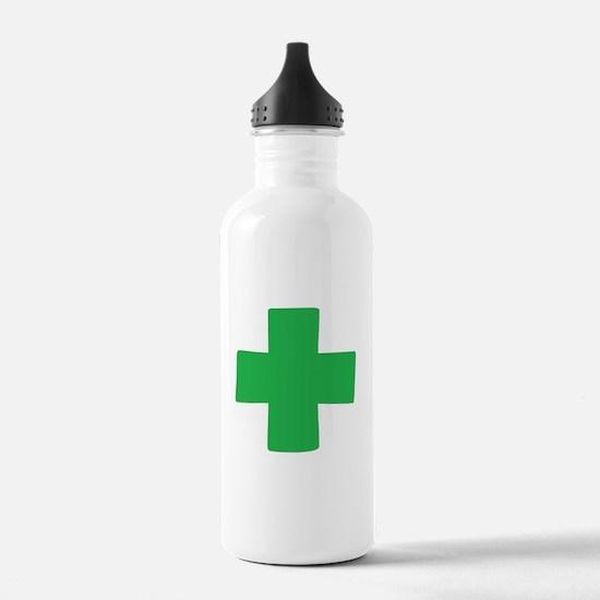 Green Cross Water Bottle