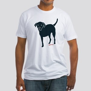 Front Leg Tripawd Black Lab Fitted T-Shirt