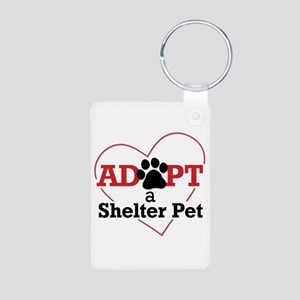 Adopt a Shelter Pet Keychain (Aluminum)