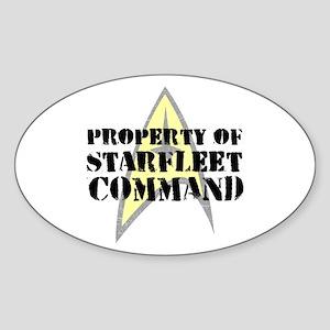 Property of Starfleet Command Sticker (Oval 10 pk)