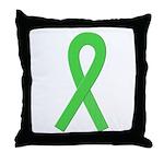 Lime Ribbon Throw Pillow