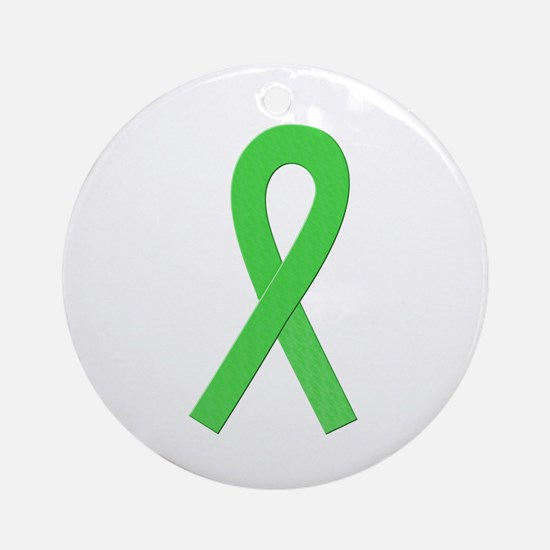 Lime Ribbon Ornament (Round)