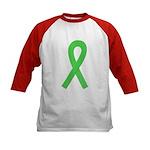 Lime Ribbon Kids Baseball Jersey