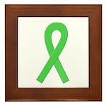 Lime Ribbon Framed Tile
