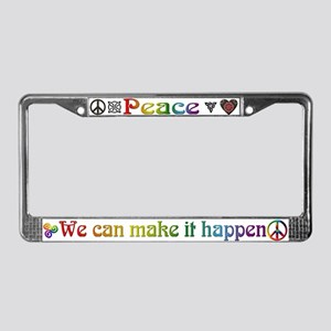 Peace Sign License Plate Frame