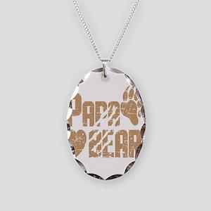 Papa Bear Necklace Oval Charm