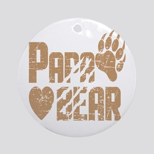 Papa Bear Round Ornament