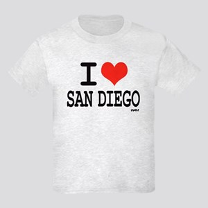 I LOVE SAN DIEGO Kids Light T-Shirt
