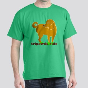 Golden Tripawds Rule Dark T-Shirt