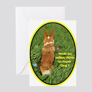 Easter Corgi Greeting Card
