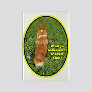 Easter Corgi Rectangle Magnet