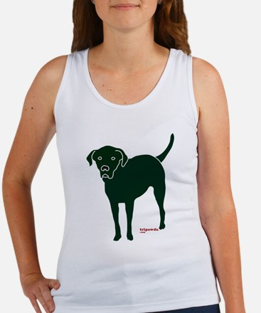 Tripawds Rear Leg Black Lab Women's Tank Top